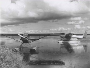 two, float, planes, history, photograph