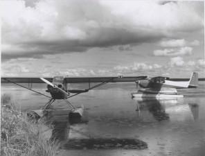 zwei, schwimmen, Flugzeuge, Geschichte, Foto
