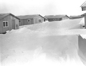 houses, snow, old, photo