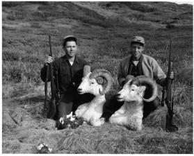 vânători, demis, capete, vechi, Foto, istorice, vintage