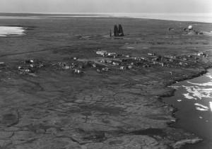 kaktovik, Alaska, dew, line, site