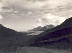 manzara, bakış, vintage, road, fotoğraf