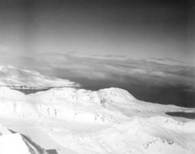 Landschaft, Jahrgang, verschneiter, Foto