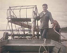 man, fishwheel, subsistence, fishing