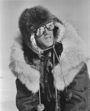 omul, de iarnă, pantaloni, ochelari, zăpadă, antic, Foto