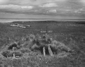 indigène, historique, alaska, cimetière, cru, photo