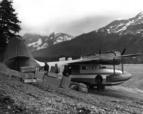 chargement, flotteur, avion