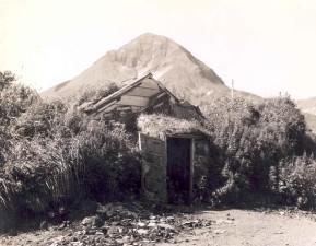 viejo, abandonado, cabaña, casas