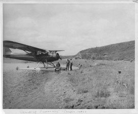 old, vintage, photo, water, plane, people