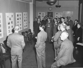 people, discussing, vintage, old, photograph