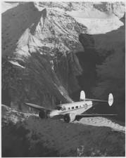 plane, flying, mountains, vintage, photo