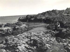 rocky, coastline, landscape, scenics, vintage, photography