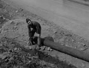 servisera, kopanje rova