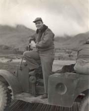 serviceman, jeep