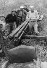 several, men, field work, old, history, vintage, photo