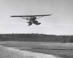 petit, flotteur, avion, vol