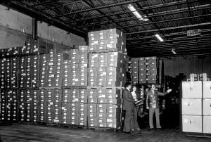 stored, boxes, swine, influenza, vaccine, vintage, old, photo