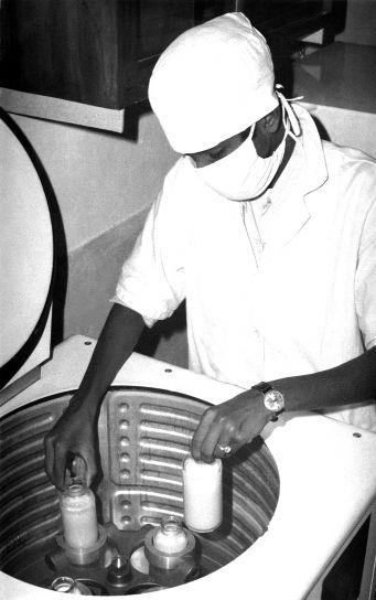 técnico de laboratório, trabalho, vintage, fotografia