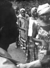 Nigerijski, žene, primiti, male boginje, cijepljenje