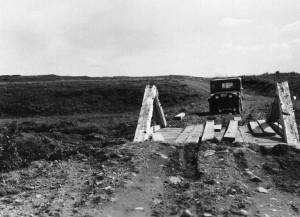 camión, puente, vintage, foto