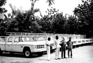 camion, cérémonie, ainsi, l'introduction, la flotte, le transport, les véhicules