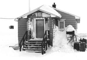 Vintage, svart, foto, vinteren, hus