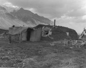 Vintage, Foto, Haus