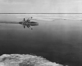 vintage, sport, photographie, kayak