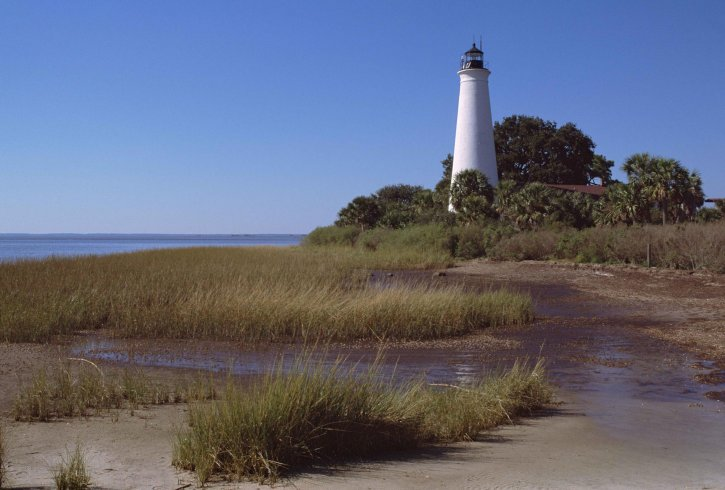 scenic, white, lighthouse