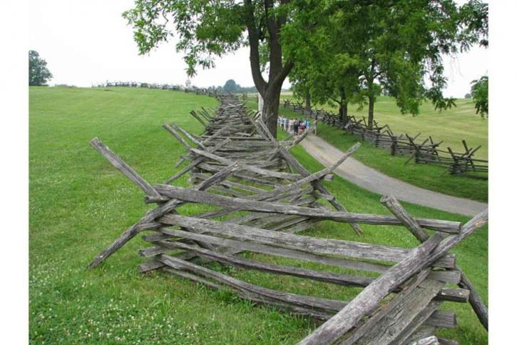antietam, national, battlefield, fence