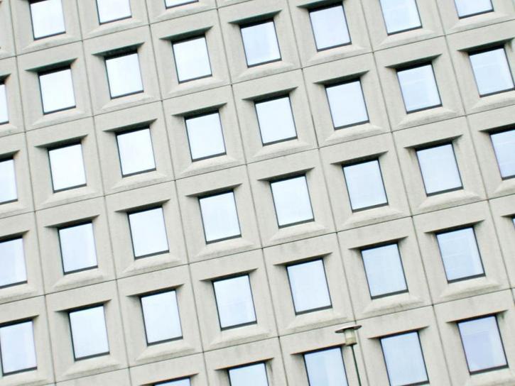fond, ville, fenêtres