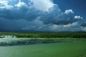 blue, sky, green, water, landscape