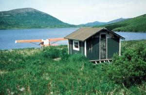 cabin, small, float, plane