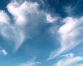 nubi, carta da parati