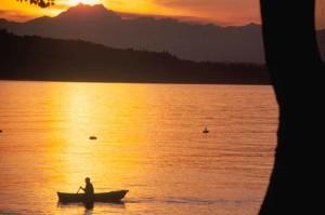 evening, boat, ride