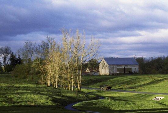 farm, barn, scenic, landscape