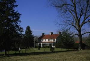 farmhouse, farm, field