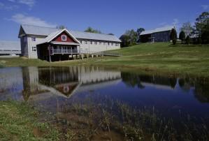 nice, lake, house, background