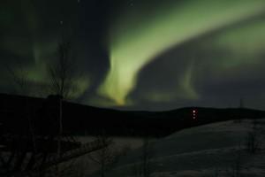 aurores boréales, l'Alaska, l'aurore, borealis, nuit, paysage