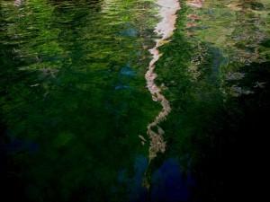 reflexión, agua