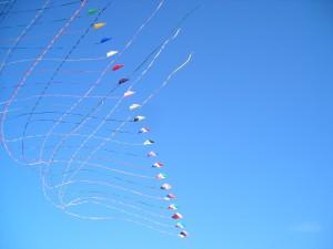 streamers, kite, flying