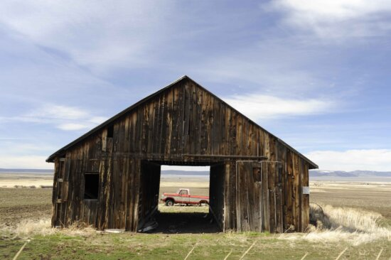 truck, old, barn